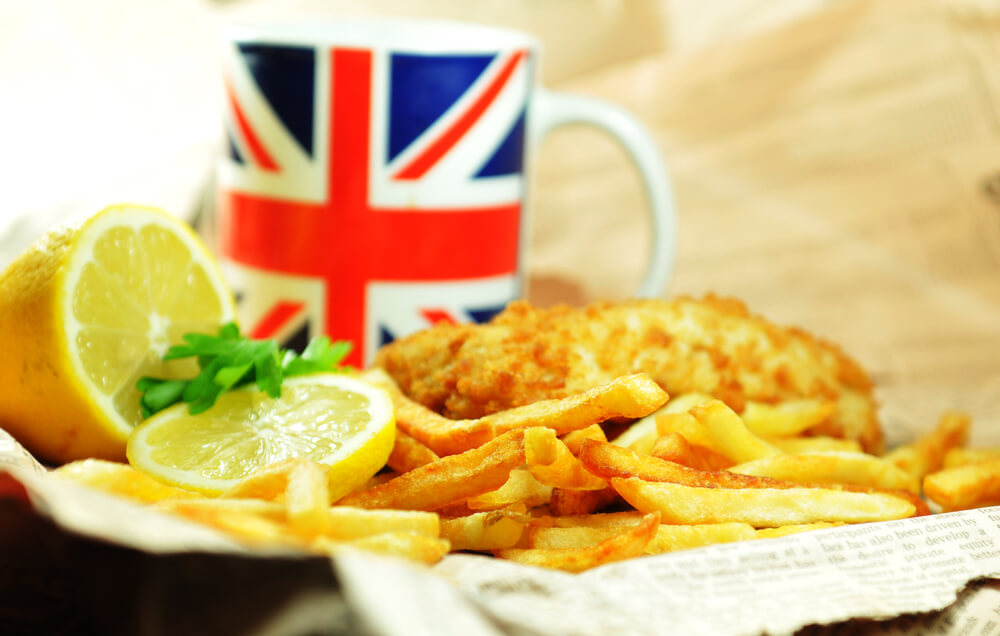 Fish and chips traditional British meal