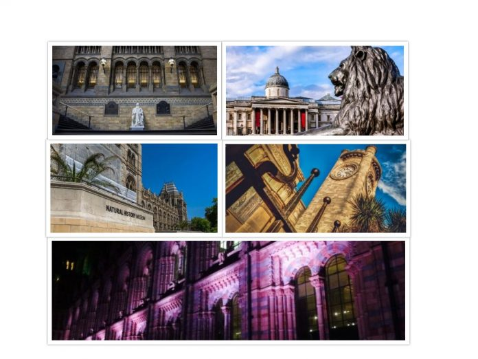 Museum Collage in London
